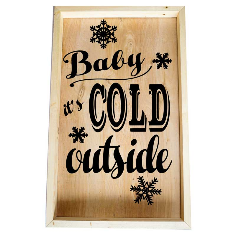 Larger-14x24-Framed-Baby-it's-cold-outside