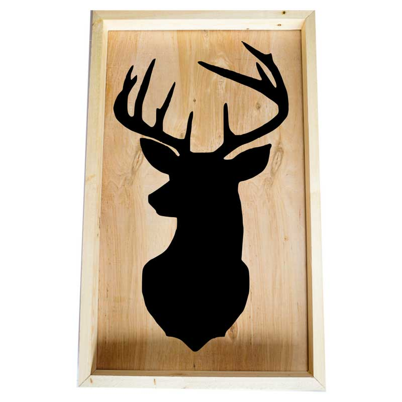 Larger-14x24-Framed-Deer-Head-Silhouette