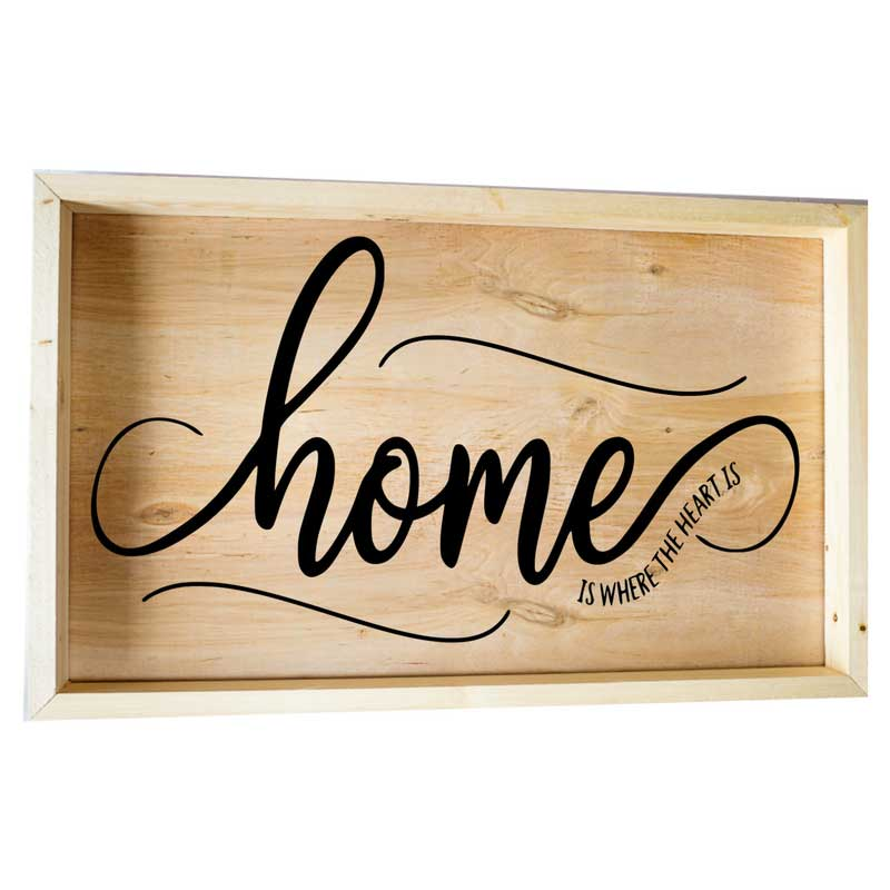 Larger-14x24-Framed-Home-is-where-the-Heart-is