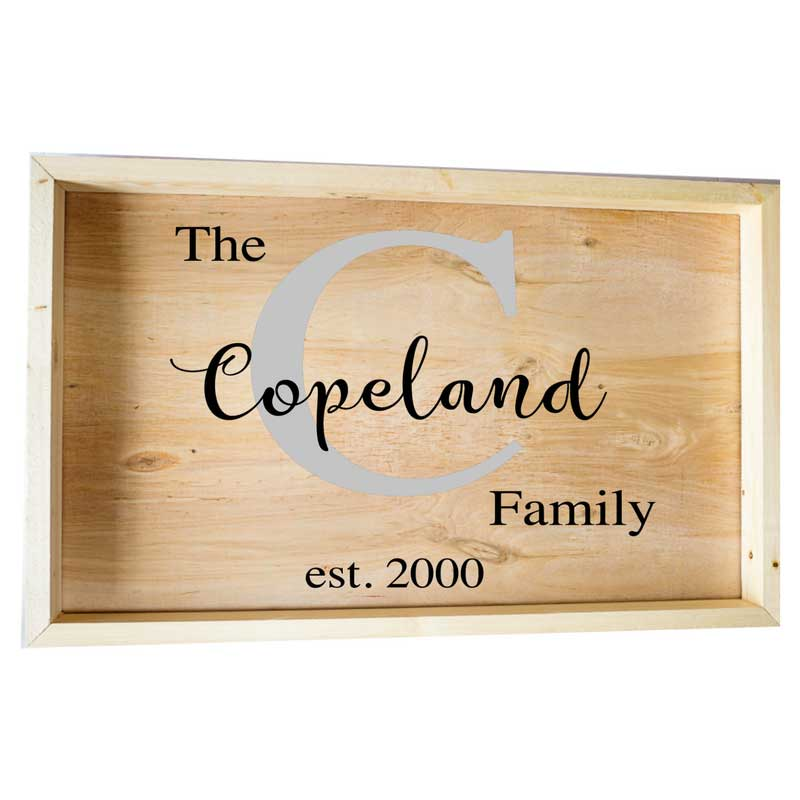 Larger-14x24-Framed-The-Family-Name-and-Initial