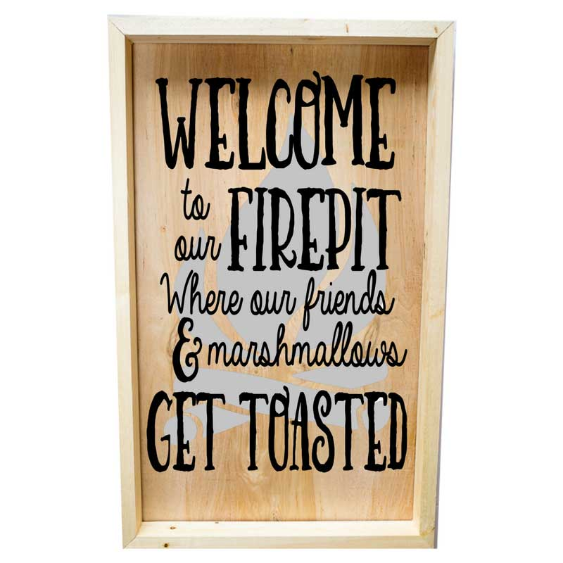Larger-14x24-Framed-Welcome-to-our-Firepit