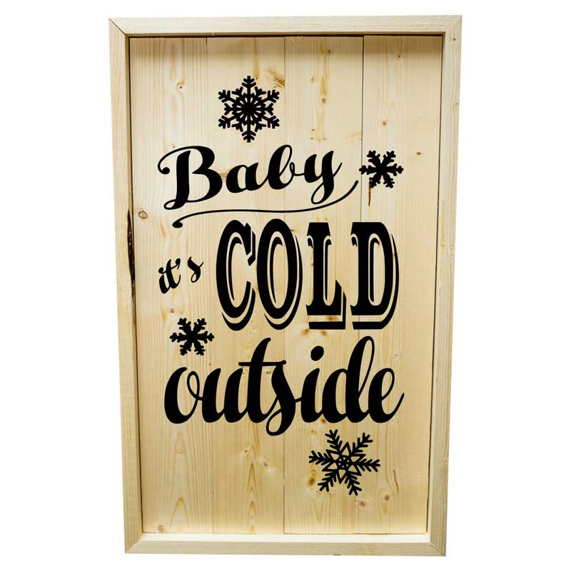 Larger-14x24-Stack-Framed-Baby-it's-Cold-Outside