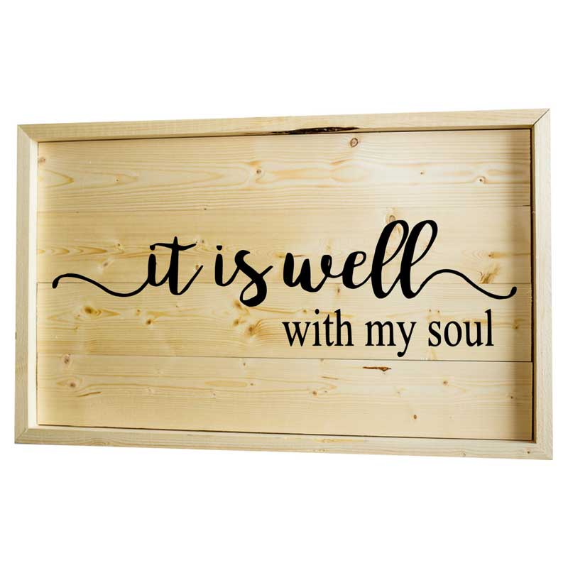 Larger-14x24-Stack-Framed-It-is-Well-With-my-Soul