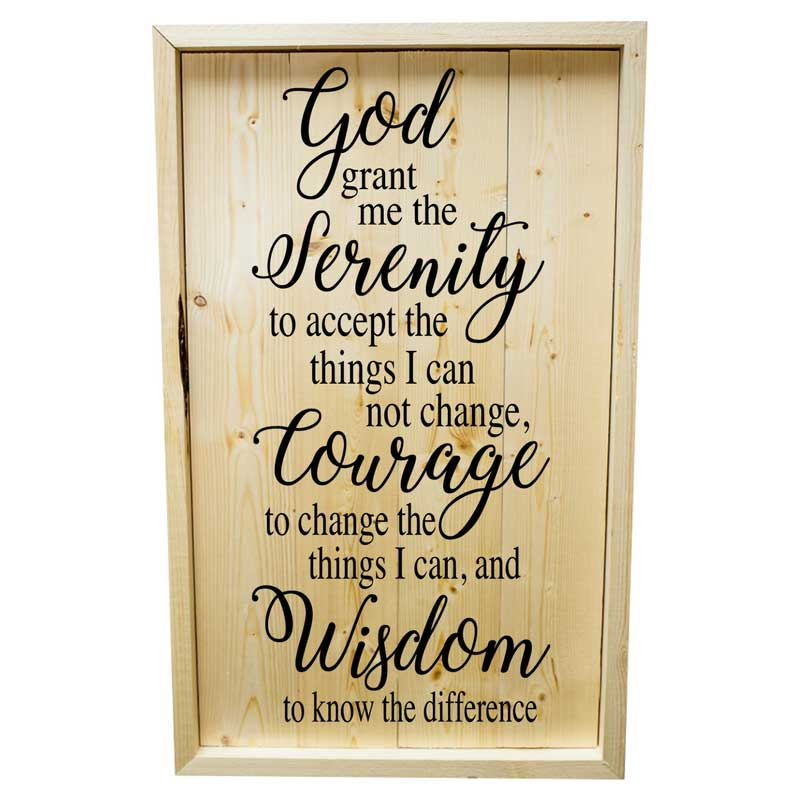 Larger-14x24-Stack-Framed-Serenity-Prayer