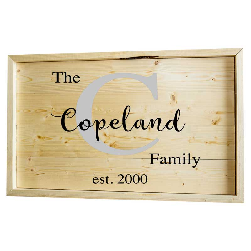 Larger-14x24-Stack-Framed-The-Family-Name-and-Initial
