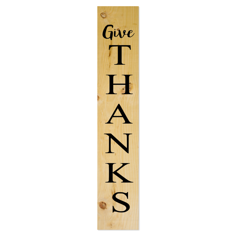 Large Plank 48 Give Thanks