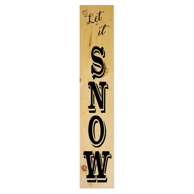 Large Plank 48 Let it Snow