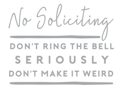 5130 NO SOLICITING